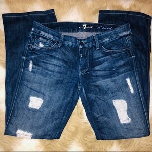 7 For All Mankind Distressed A-Pocket Wide Size 30